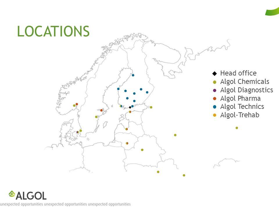 LOCATIONS Head office Algol Chemicals Algol Diagnostics Algol Pharma Algol Technics Algol-Trehab