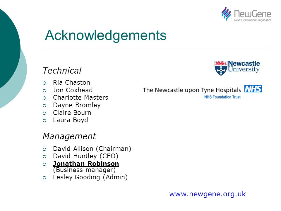 Acknowledgements Technical Ria Chaston Jon Coxhead Charlotte Masters Dayne Bromley Claire Bourn Laura Boyd Management David Allison (Chairman) David H
