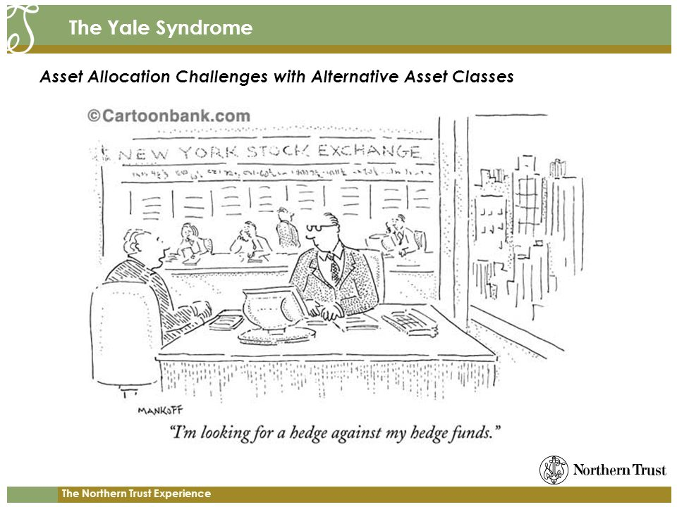 The Northern Trust Experience The Yale Syndrome Asset Allocation Challenges with Alternative Asset Classes