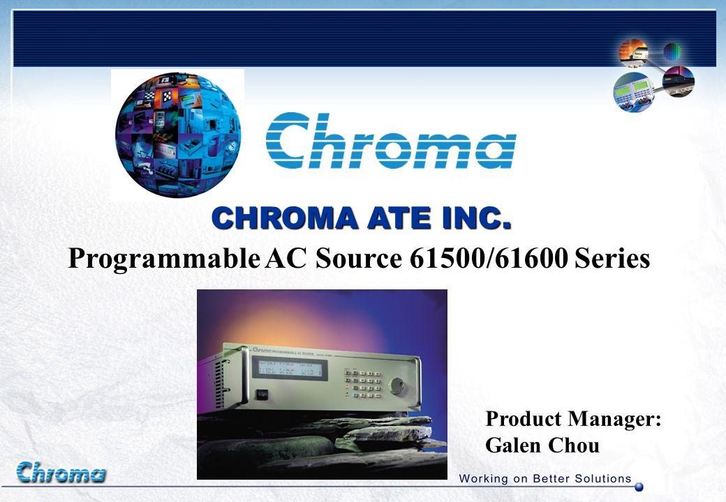 Chroma AC Source Family