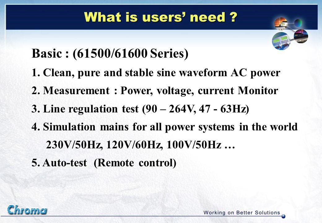 IEC 61000-4-13 : Harmonics, Interharmonics including mains signaling at AC power port immunity tests signaling at AC power port immunity tests Flat Curve Over Swing Sweep Regulation for Distorted Waveform