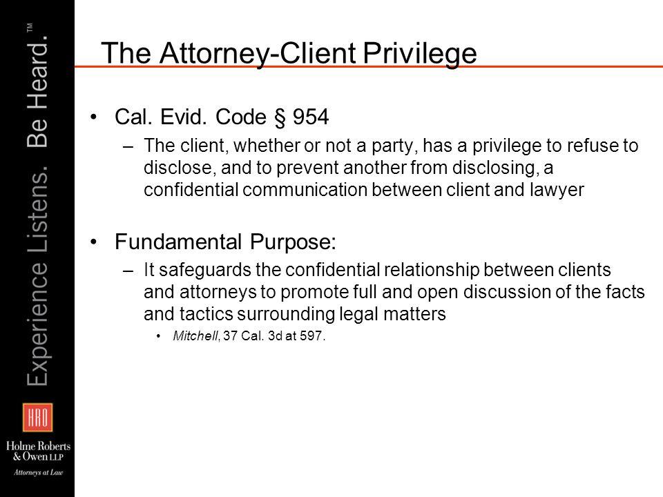 Confidential Communications Cal.Evid.