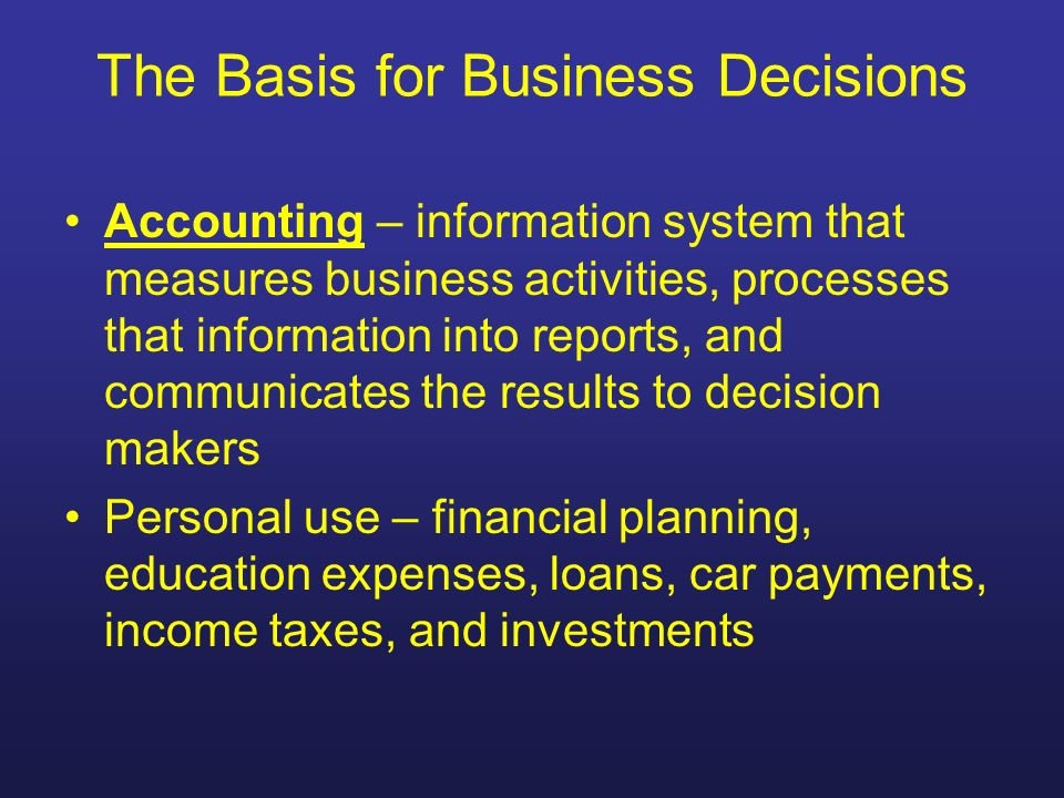 Owners Equity Owners claim to the assets of the business Capital – shows owners claim to the assets of the business Total assets - total liabilities = owners capital Capital balance = owners investments in the business plus business plus business net income and minus any net losses and owner withdrawals
