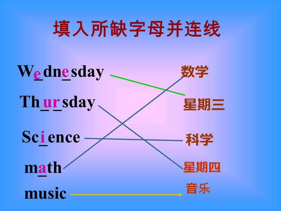 W_dn_sday Th_ _sday Sc_ence m_th e e ur i a music