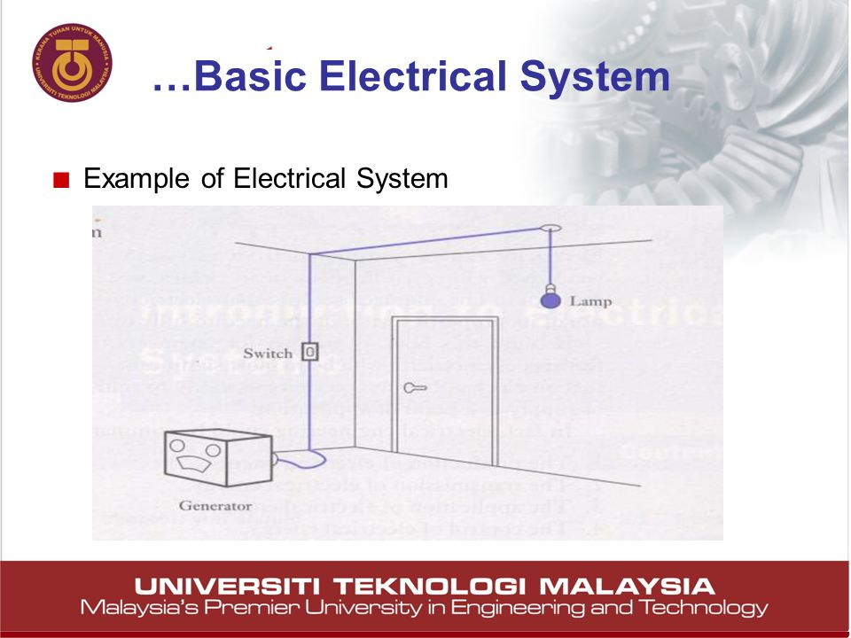 11 Example of Electrical System …Basic Electrical System