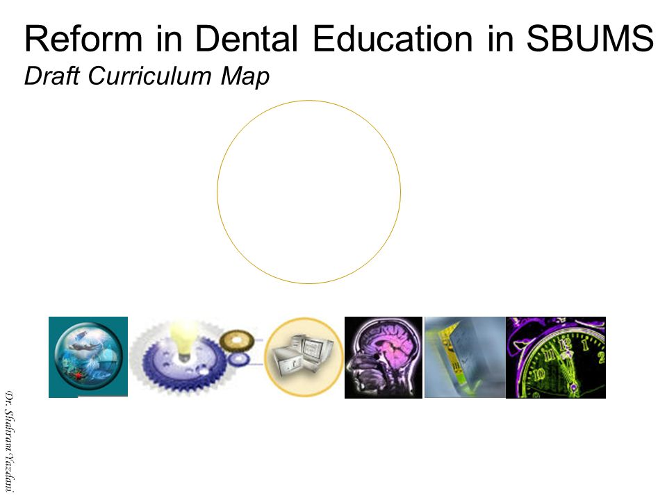 Dr. Shahram Yazdani Reform in Dental Education in SBUMS Draft Curriculum Map Dr. Shahram Yazdani
