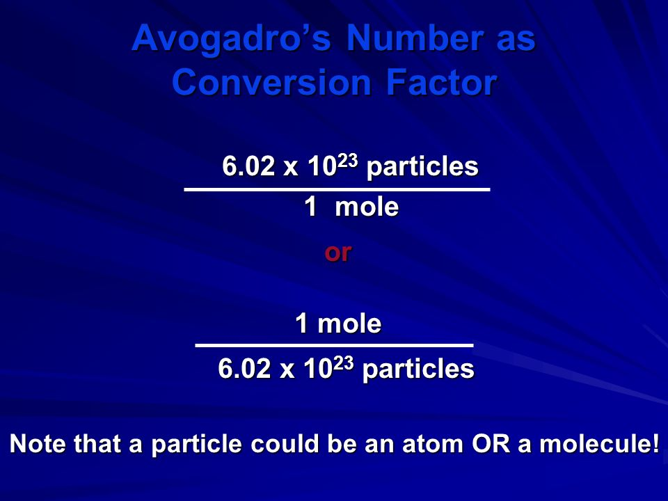 So why is it such a big number? Since a mole is such a large number, it is useful only for counting very small objects like atoms and molecules. A mol