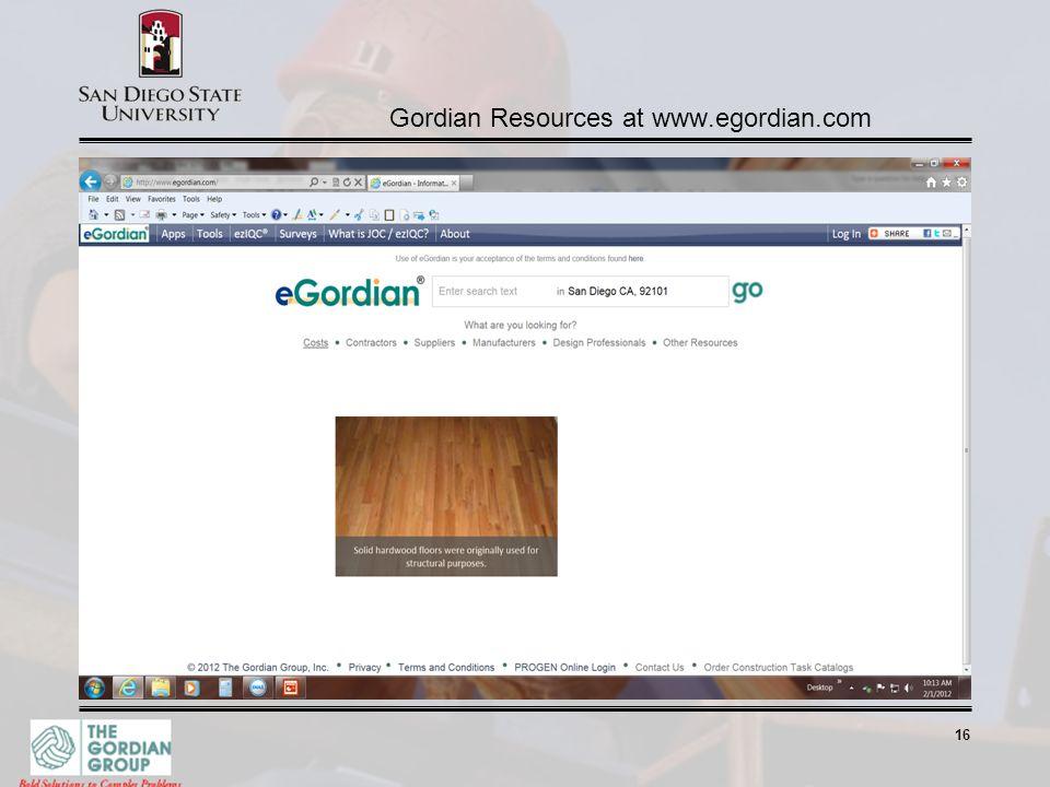 16 Gordian Resources at www.egordian.com