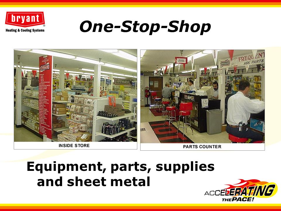 One-Stop-Shop Equipment, parts, supplies and sheet metal