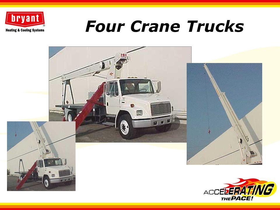 Four Crane Trucks
