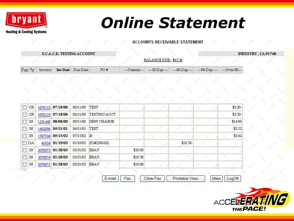 Online Statement