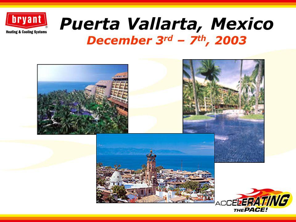 Puerta Vallarta, Mexico December 3 rd – 7 th, 2003
