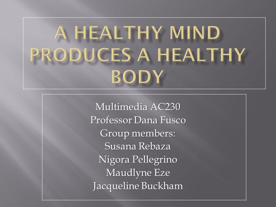 Multimedia AC230 Professor Dana Fusco Group members: Susana Rebaza Nigora Pellegrino Maudlyne Eze Jacqueline Buckham