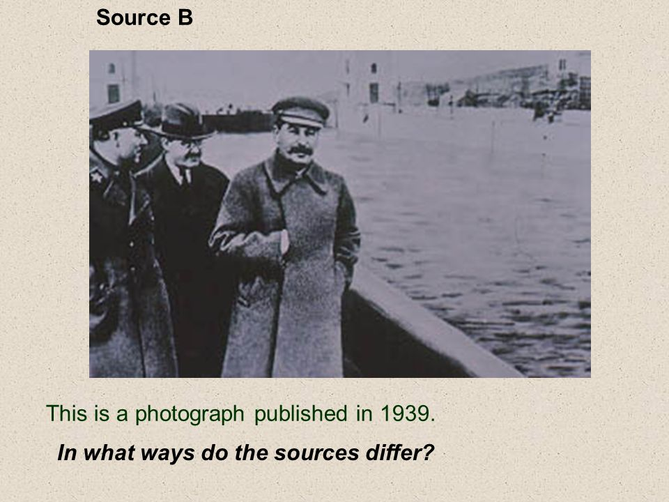 Source B This is a photograph published in In what ways do the sources differ