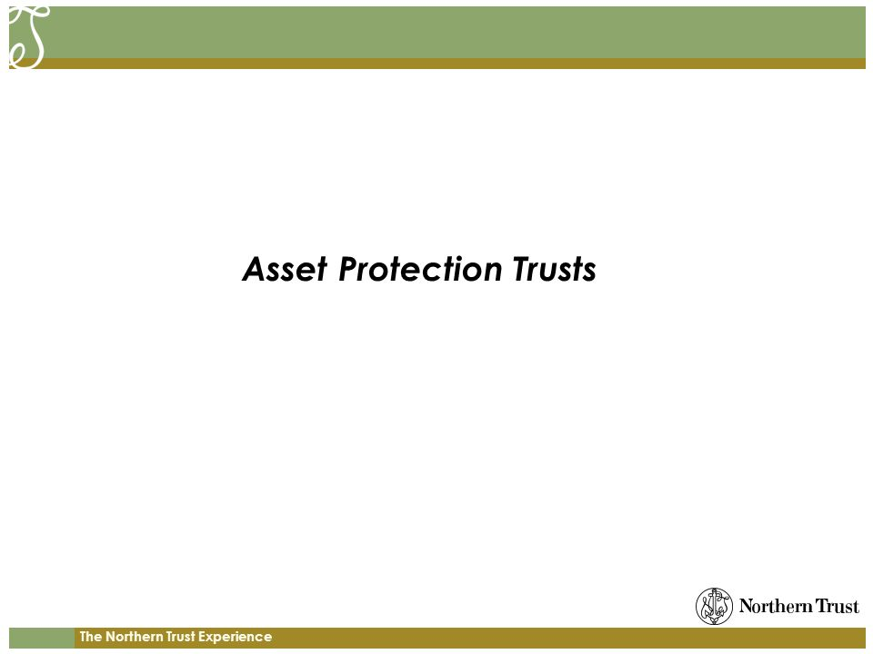 The Northern Trust Experience Asset Protection Trusts