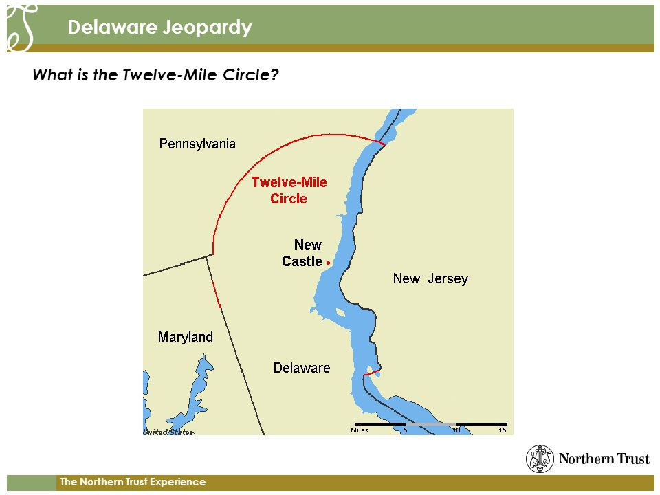 The Northern Trust Experience Delaware Jeopardy What is the Twelve-Mile Circle