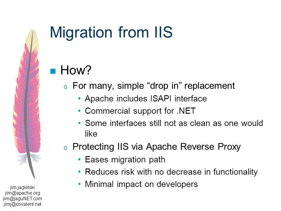 jim jagielski jim@apache.org jim@jaguNET.com jimj@covalent.net Migration from IIS How.