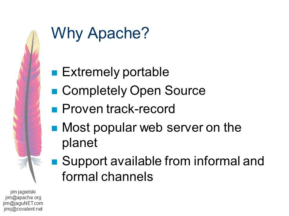 jim jagielski jim@apache.org jim@jaguNET.com jimj@covalent.net Why Apache.