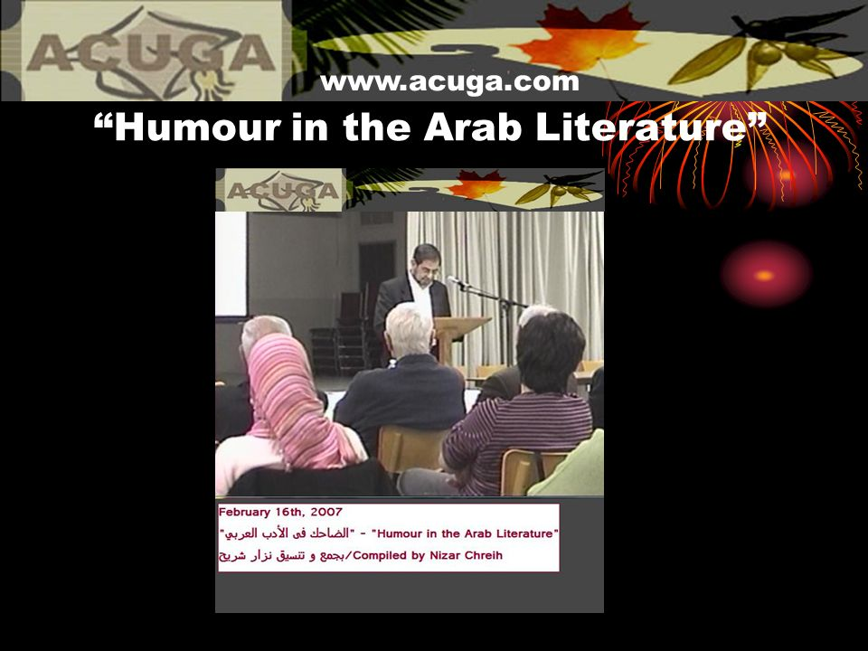 Humour in the Arab Literature www.acuga.com