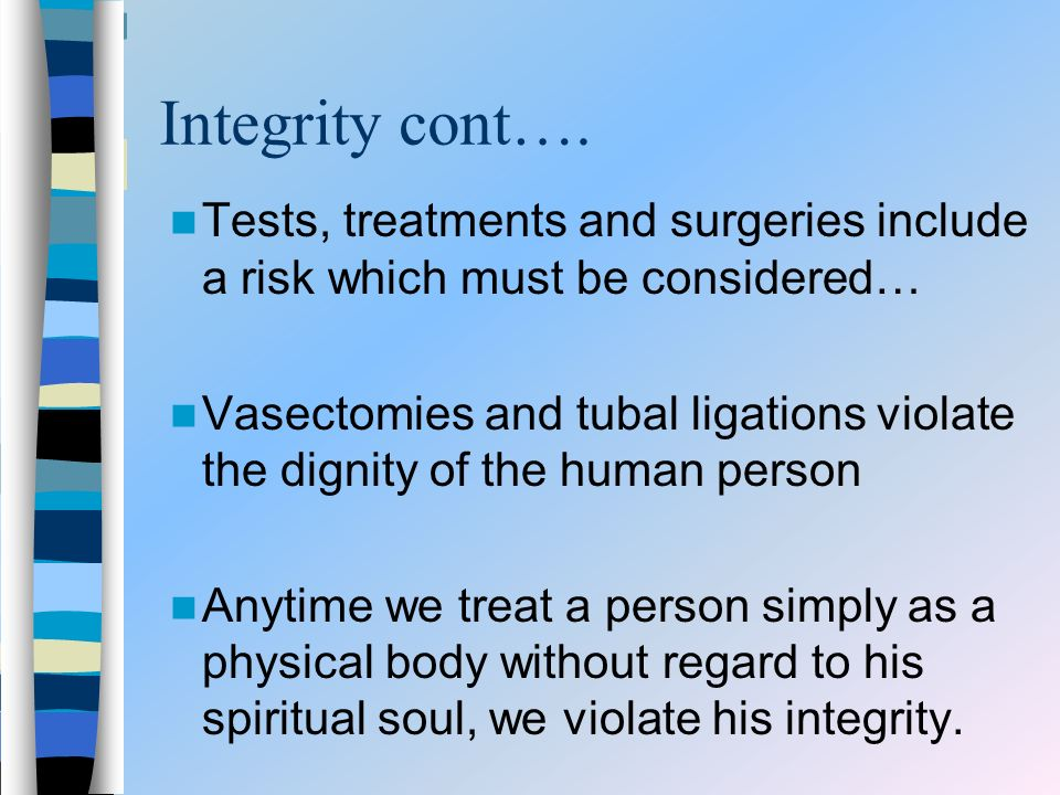 Integrity cont….
