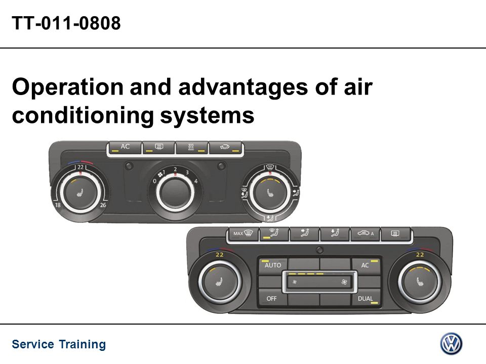 Service Training TT-011-0808 Operation and advantages of air conditioning systems