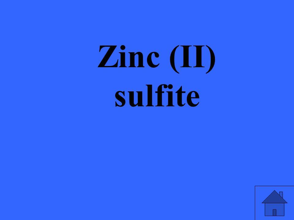Zinc (II) sulfite