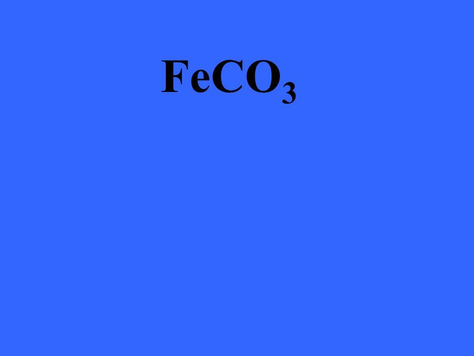 FeCO 3