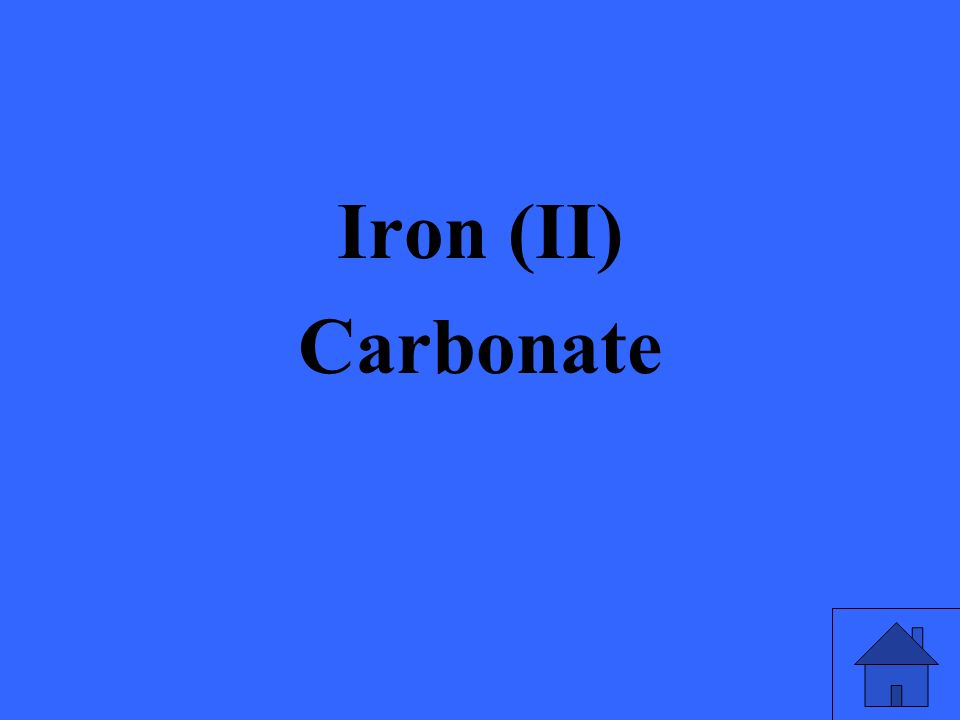 Iron (II) Carbonate