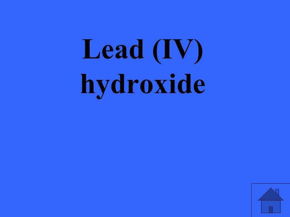 Lead (IV) hydroxide
