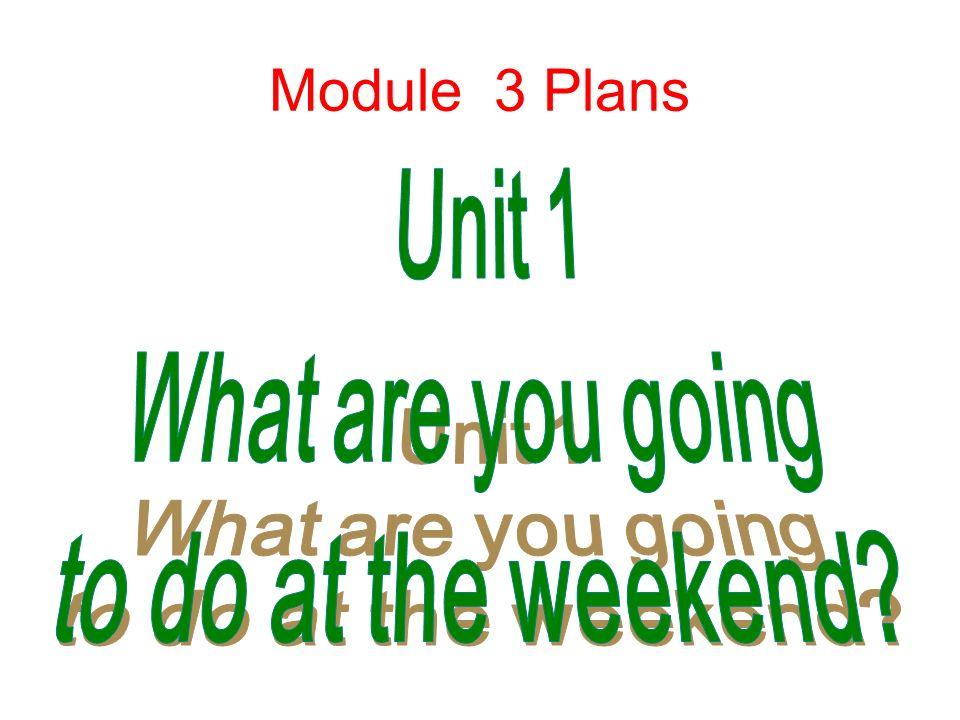 Module 3 Plans