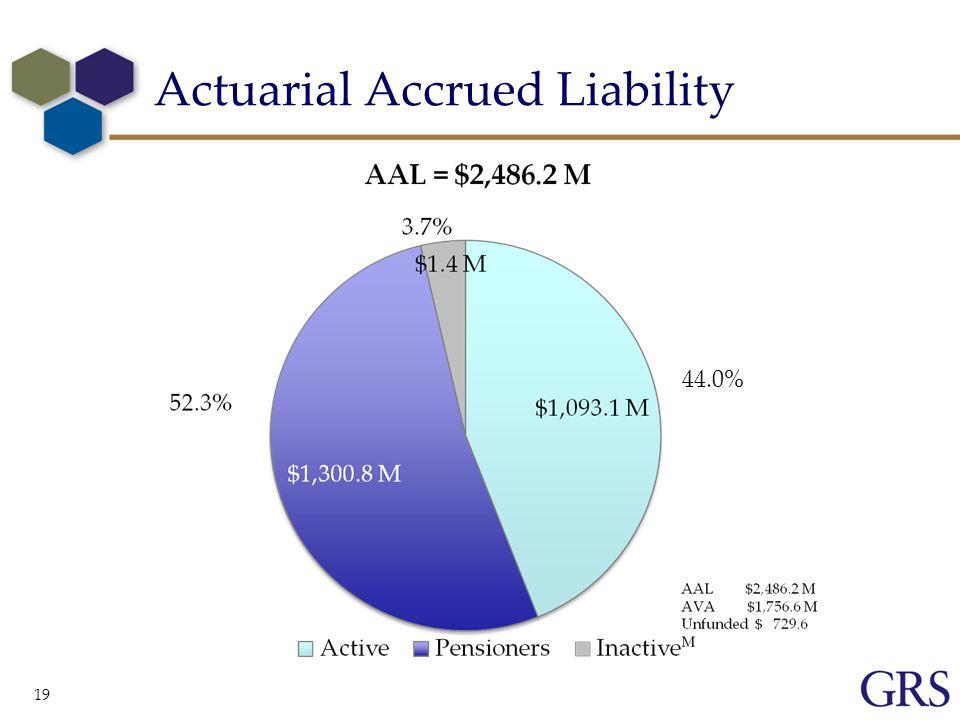Actuarial Accrued Liability 19 44.0%