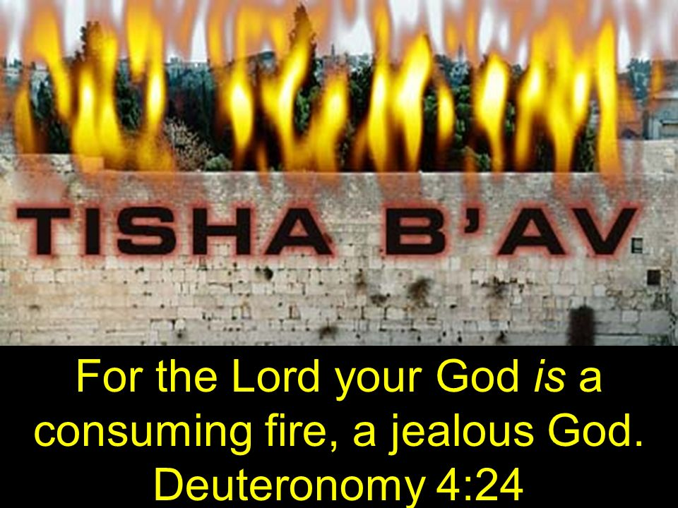 For the Lord your God is a consuming fire, a jealous God. Deuteronomy 4:24