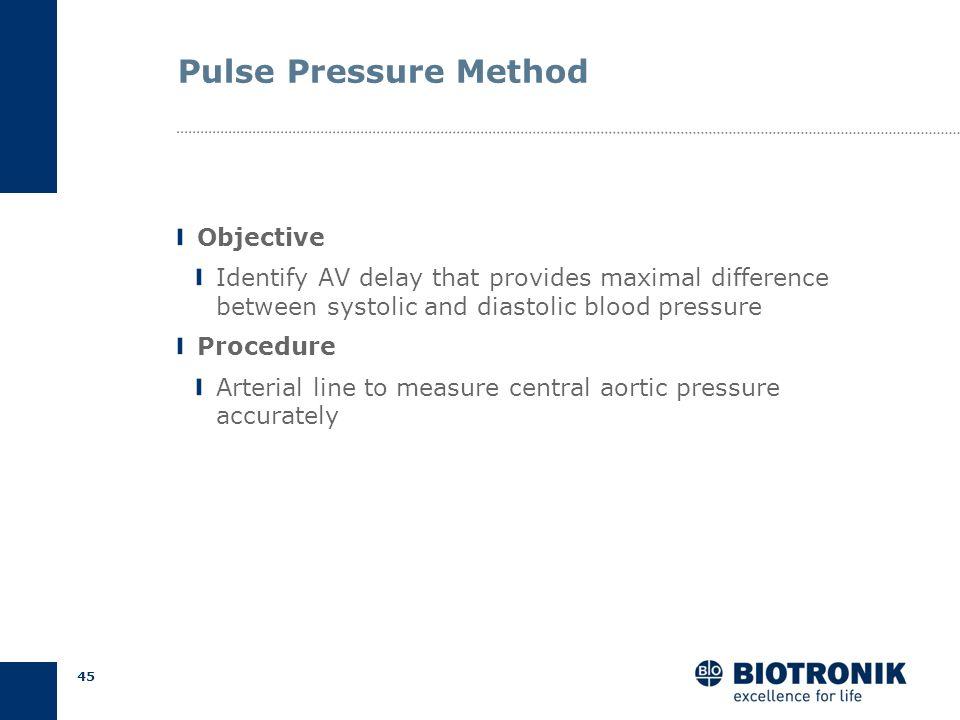 44 AV Delay Optimization Empirical Calculation Echocardiography Pulse pressure Methods