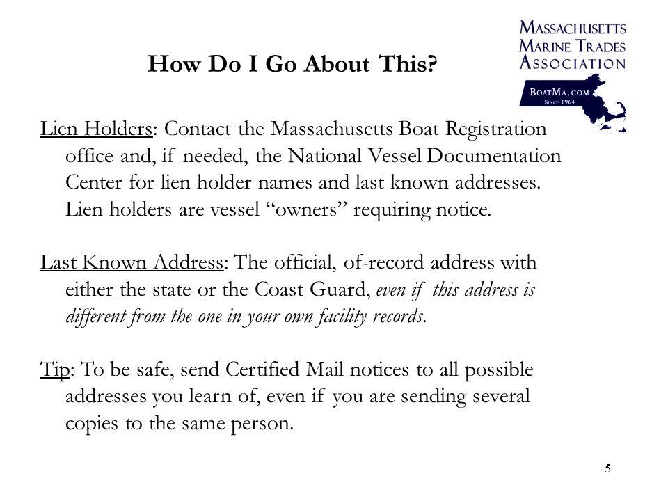 6 State Registered/Titled Vessel vs.