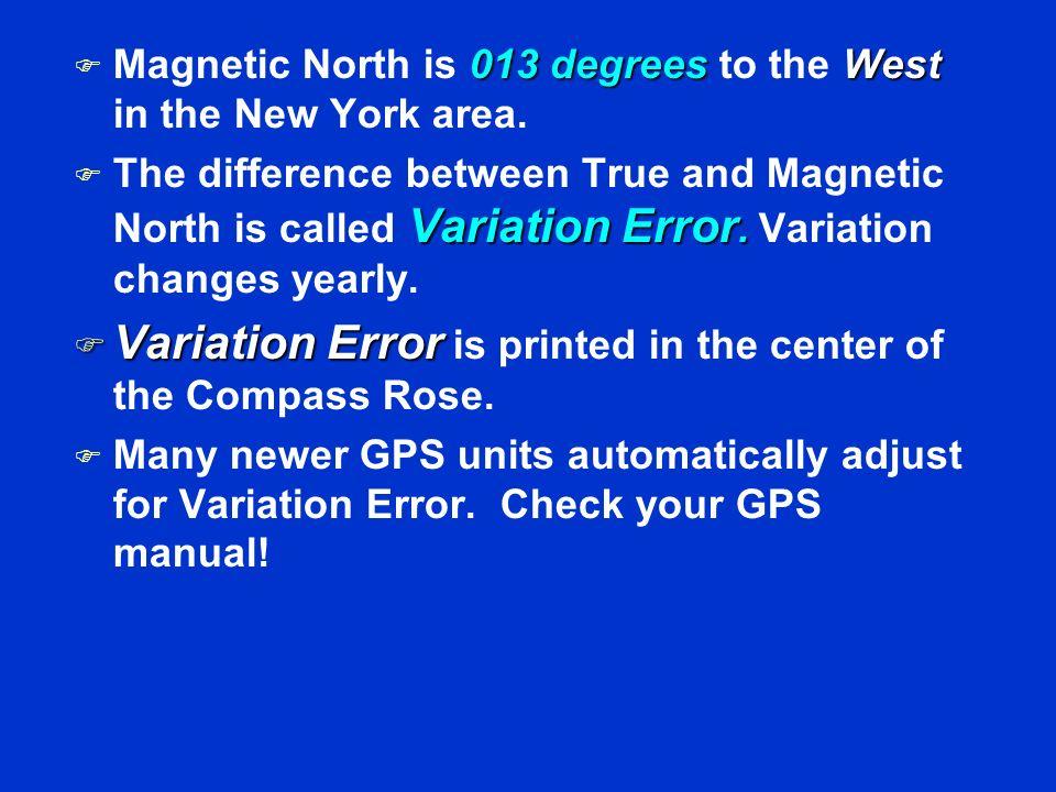 VARIATION ERROR TRUE NORTH MAGNETIC NORTH COMPASS ROSE