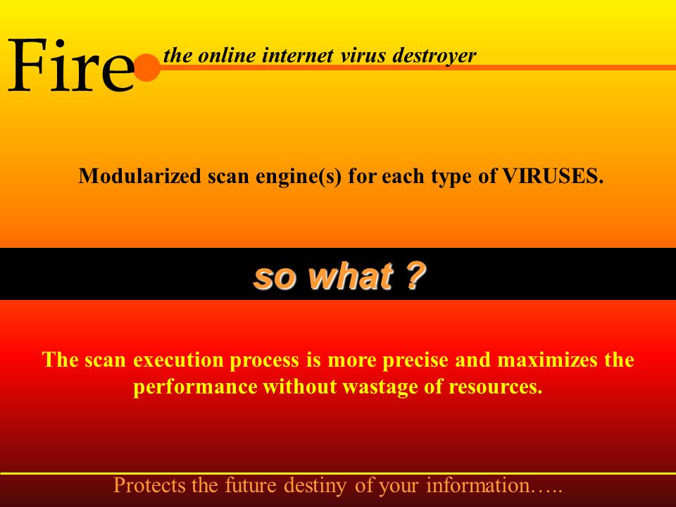 Fire the online internet virus destroyer Developed in Assembly, Visual Basic, C, C++ and Visual C++ languages.