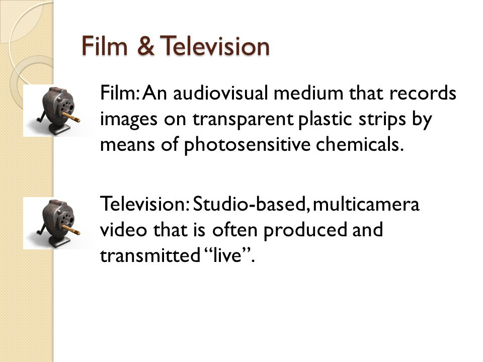 What is video? Video: An audiovisual medium that records on magnetic tape or other media by electronic means.