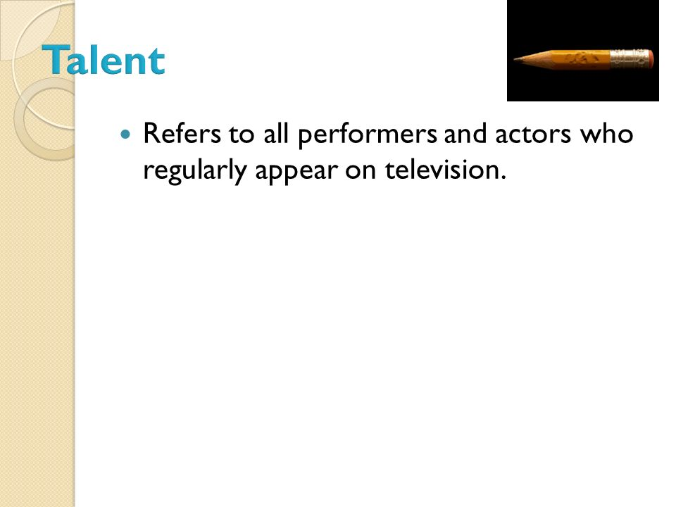 Someone who appears on-camera in a non-dramatic activity. Performers portray themselves.