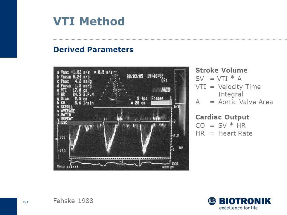 52 AV Delay Optimization Dr. Uhrig, Vivantes Urban Hospital Berlin VTI = 12.7 cmVTI = 20.5 cm Velocity Time Integral