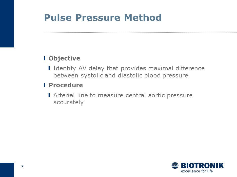 6 AV Delay Optimization Pulse pressure Empirical Calculation Echocardiography Methods