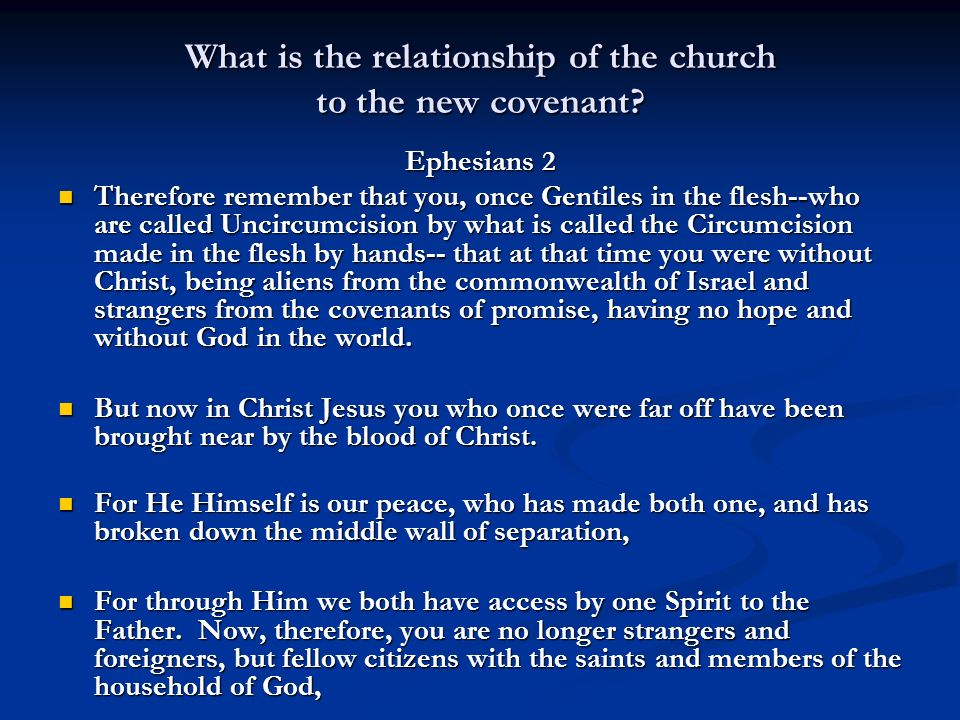 What is the relationship of the church to the new covenant.