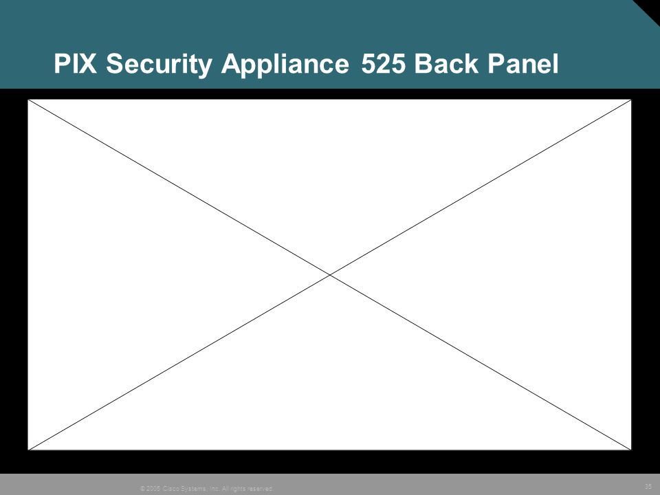 35 © 2005 Cisco Systems, Inc. All rights reserved. PIX Security Appliance 525 Back Panel