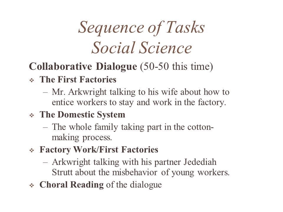 Sequence of Tasks How many did we model.