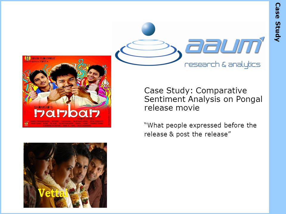 Case Study: Comparative Sentiment Analysis on Pongal release movie What people expressed before the release & post the release Case Study
