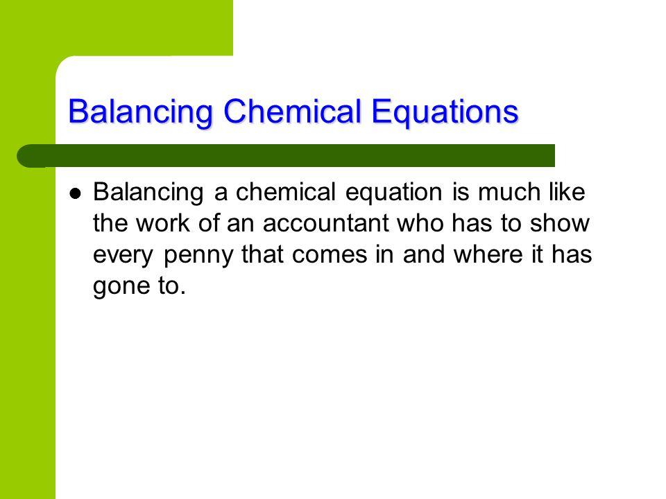 Balancing Chemical Equations An easier way