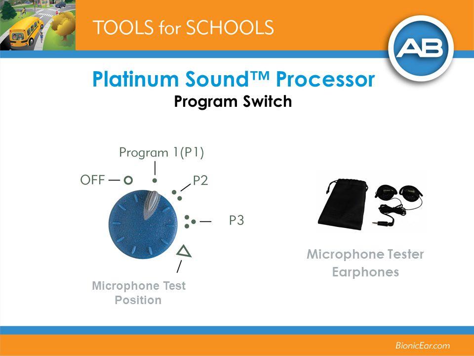 Platinum Sound Processor Program Switch Microphone Tester Earphones Microphone Test Position