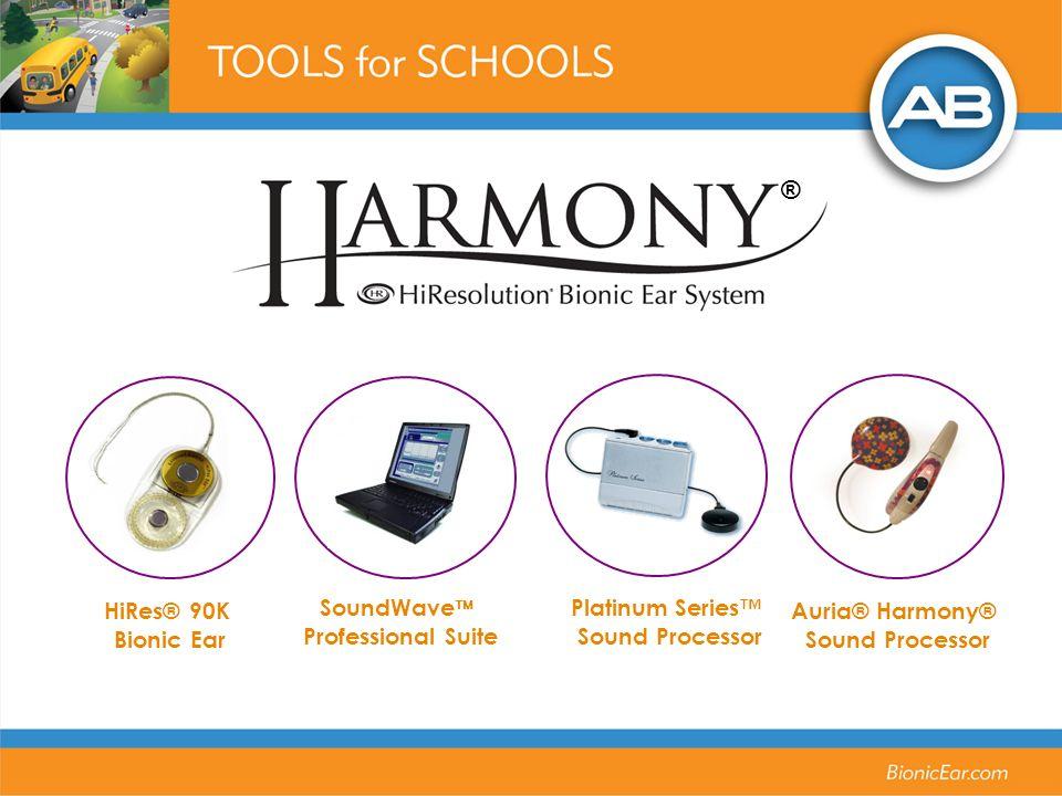 Auria® Harmony® Sound Processor HiRes® 90K Bionic Ear SoundWave Professional Suite Platinum Series Sound Processor ®