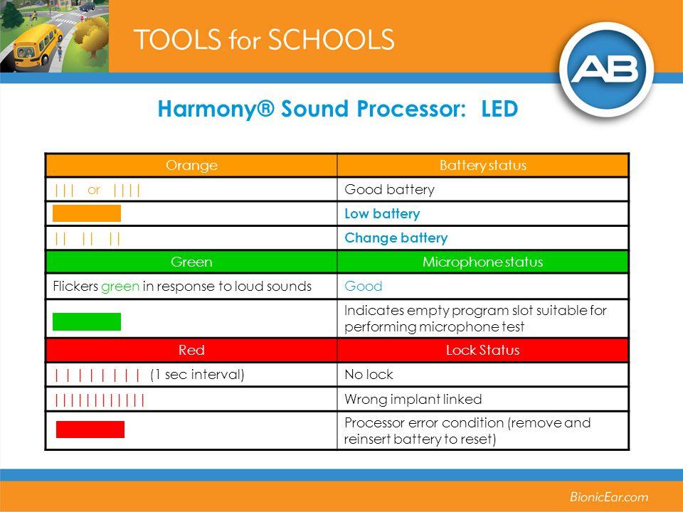 OrangeBattery status ||| or |||| Good battery Low battery || || ||Change battery GreenMicrophone status Flickers green in response to loud soundsGood