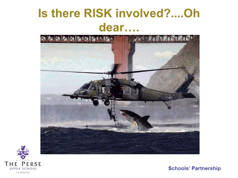 Is there RISK involved?....Oh dear….