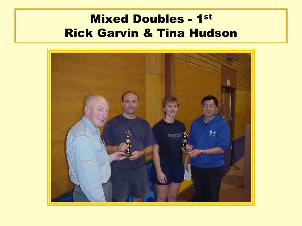 Mixed Doubles - 1 st Rick Garvin & Tina Hudson
